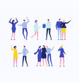 party - flat design style set of isolated vector image vector image