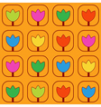 Pattern with stylized tulips vector image