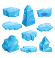 pieces of ice set cold frozen block icy cliff vector image vector image