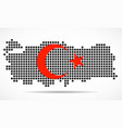 pixel map turkey with flag inside vector image