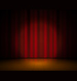 realistic theater stage red curtains and vector image vector image