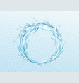 realistic water splash isolated vector image vector image