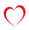 red heart like love symbol on white stock vector image vector image