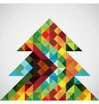 Retro mosaic Christmas tree vector image vector image