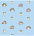 seamless pattern from tiaras various shapes vector image vector image