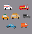 set car style flat vector image vector image