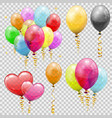 set helium balloons vector image vector image