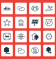 set of 16 ecology icons includes snow ocean wave vector image vector image