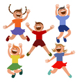 Set of kids jumping with joy vector image vector image