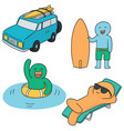 set of travel vector image vector image