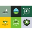 Set of vintage color golf championship logos vector image vector image