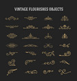 set of vintage ornamental flourishes vector image vector image
