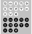 Set of zodiac signs sketch doodle Black and white vector image vector image