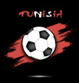 soccer ball and tunisia flag vector image