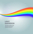the light dispersion background with rainbow vector image