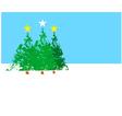 Three Christmas trees B vector image vector image