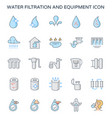 water filtration icon vector image vector image