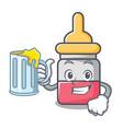 with juice nassal drop mascot cartoon vector image