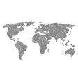 world atlas mosaic of open box icons vector image vector image