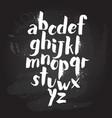 alphabet poster dry brush ink artistic modern vector image