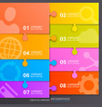 option of puzzle infographics vector image