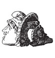 sidemask decoration were used as keystone vector image