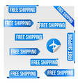 free shipping blue label design vector image