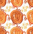 Lion pattern3 vector image