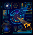 futuristic digital interface touchscreen computer vector image