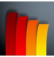 Infographics 4 options yellow orange and red vector image