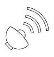 satellite antenna isolated icon vector image