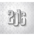 2016 New Year Background for modern seasonal card vector image