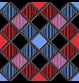 3d lumberjack tartan seamless patter vector image vector image