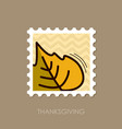 autumn leaves poplar stamp vector image vector image
