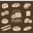 Bakery Decorative Icons vector image vector image