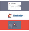 beautiful alarm logo and business card vertical vector image vector image