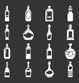bottles icons set grey vector image vector image