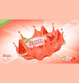 bubble gum ads banner template vector image