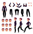 businessman man character creation set with vector image vector image