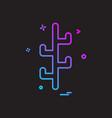 cactus icon design vector image