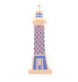 cairo tower sketch drawing icon vector image