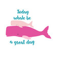 card with sperm whales vector image