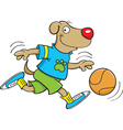 Cartoon Dog Playing Basketball vector image vector image