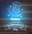 celebration card style independence day vector image vector image