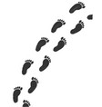childs footprints vector image
