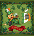 color on the theme of st patricks day celebration vector image
