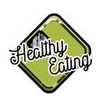 Color vintage nutritionist emblem vector image vector image