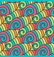 colorful waves pattern spiral background hippie vector image