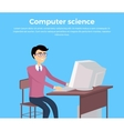 Computer Science Concept Banner vector image vector image