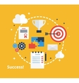 Concept of business achievement Inspiration vector image